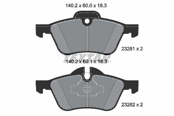 Bremsbelagsatz Scheibenbremse TEXTAR 2328181