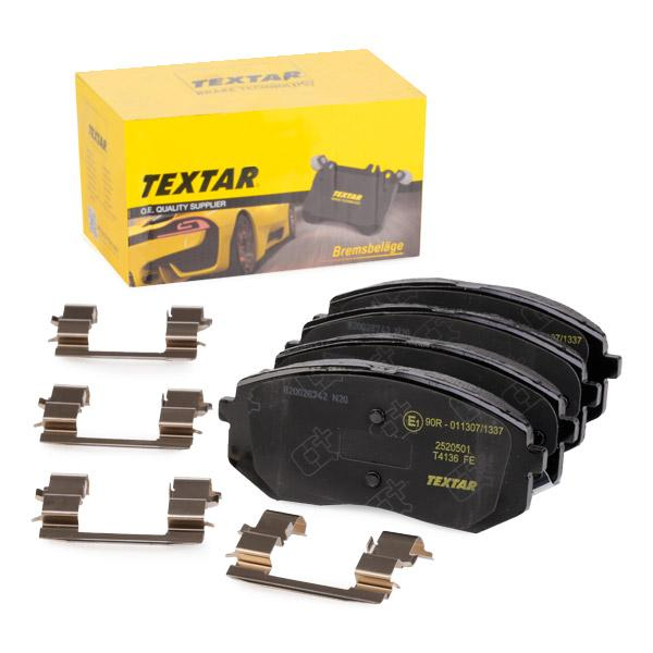 TEXTAR   Bremsbelagsatz, Scheibenbremse 2520501