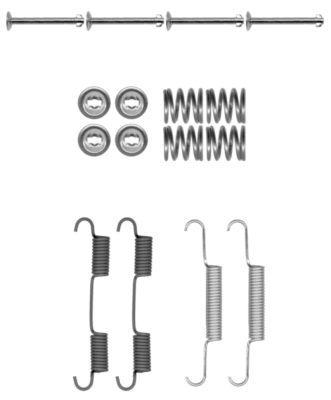 OE Original Zubehörsatz, Bremsbacken 97037500 TEXTAR