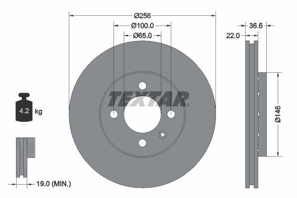 Achetez Disque TEXTAR 92239403 (Ø: 256mm, Épaisseur du disque de frein: 22mm) à un rapport qualité-prix exceptionnel