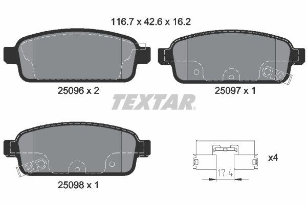 Bremsbeläge TEXTAR 2509681