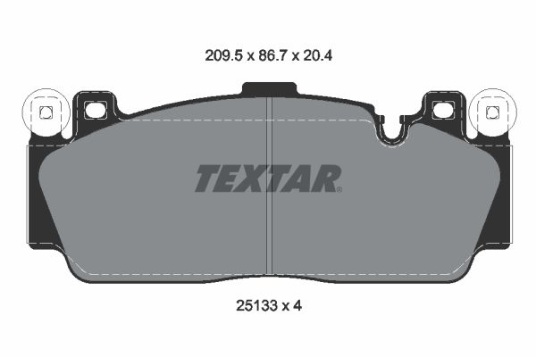 Disk brake pads 2513301 TEXTAR — only new parts