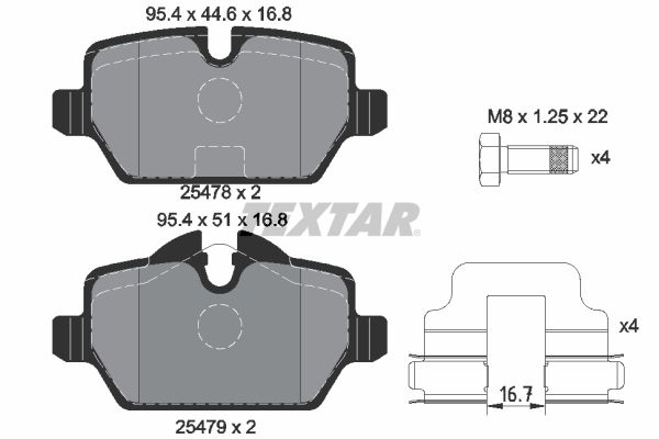 Bremsbelagsatz TEXTAR 2547801