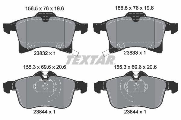Bremsbelagsatz Scheibenbremse TEXTAR 2383281