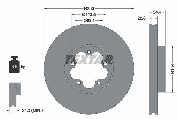 TEXTAR Спирачен диск 92231500