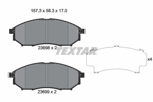 Bremsbelagsatz TEXTAR 2369803