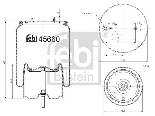 FEBI BILSTEIN: Original Federbalg, Luftfederung 45660 ()