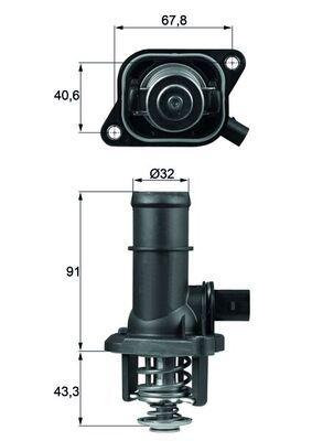MAHLE ORIGINAL: Original Thermostat TI 16 105 ()