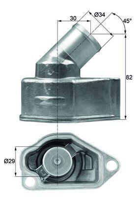 MAHLE ORIGINAL: Original Thermostat Kühlmittel TI 9 87 ()
