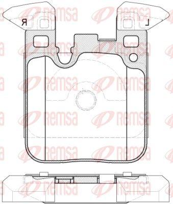 D16568885 REMSA Hinterachse, mit Klebefolie, mit Zubehör Höhe: 88,4mm, Dicke/Stärke: 17mm Bremsbelagsatz, Scheibenbremse 1539.00 günstig kaufen