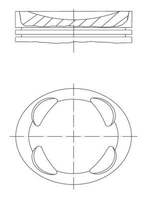 MAHLE ORIGINAL: Original Motor Kolben 081 PI 00104 002 ()
