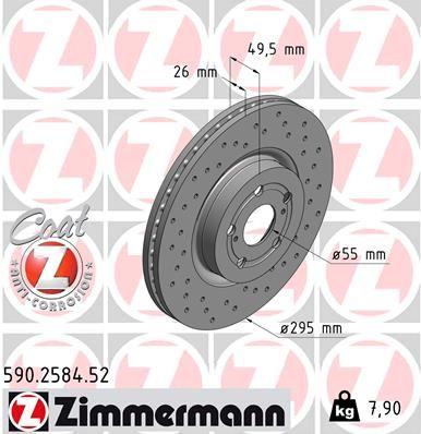 Bremsscheibe ZIMMERMANN 590.2584.52