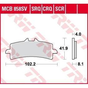 Moto TRW Sinter Carbon Racing Height: 41,9mm, Thickness: 8,1mm Brake Pad Set, disc brake MCB858SCR cheap