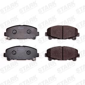 SKBP-0011136 STARK mit akustischer Verschleißwarnung Höhe: 64,7mm, Breite: 151,7mm, Dicke/Stärke: 17,5mm Bremsbelagsatz, Scheibenbremse SKBP-0011136 günstig kaufen