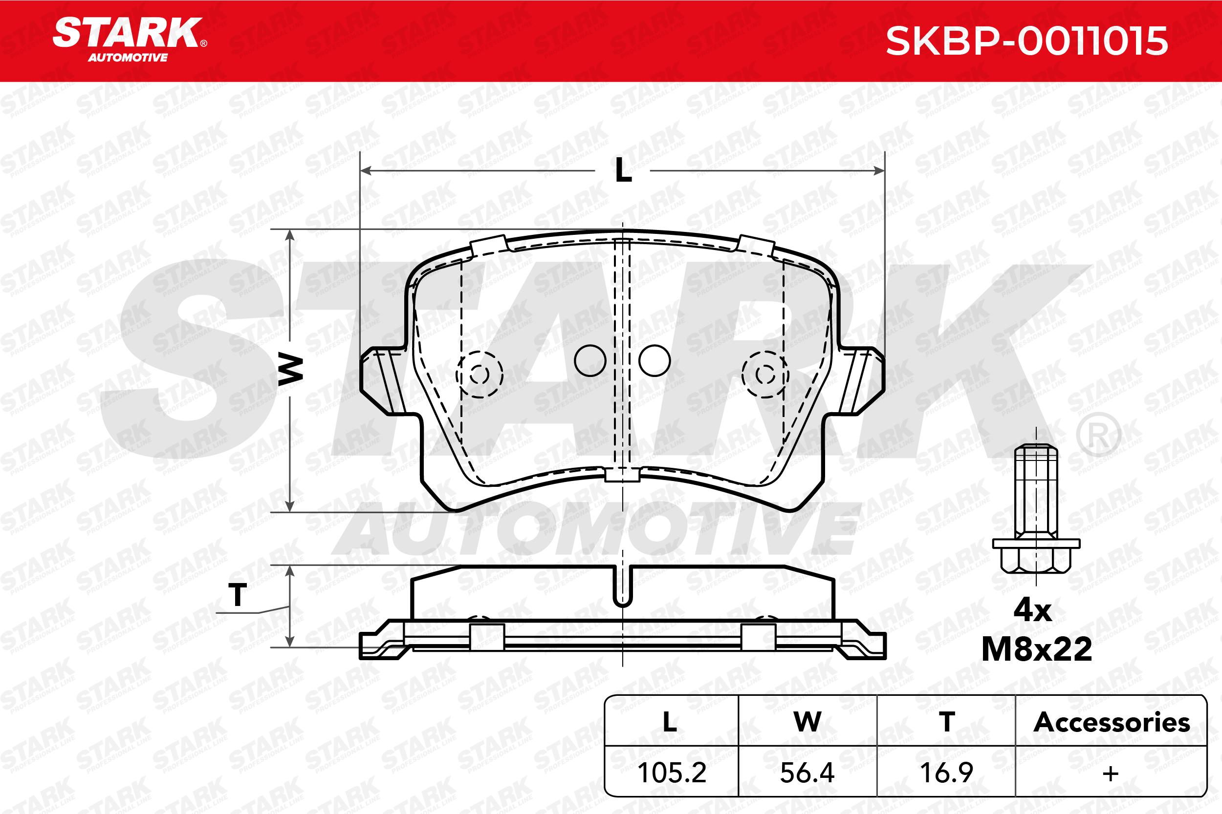 SKBP-0011015 STARK Bremsbelagsatz, Scheibenbremse Bewertung