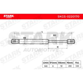 SKGS0220170 Heckklappendämpfer / Gasfeder STARK SKGS-0220170 - Große Auswahl - stark reduziert
