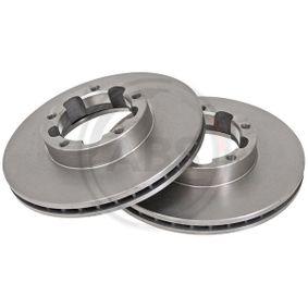 Køb 16164 A.B.S. ventileret Ø: 263mm, Felge: 5-hul, Bremsscheibendicke: 24mm Bremseskive 16164 billige