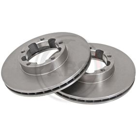 16164 A.B.S. ventilado Ø: 263mm, Llanta: 5Taladro(s), Espesor disco freno: 24mm Disco de freno 16164 a buen precio