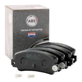20349 A.B.S. für Verschleißwarnanzeiger vorbereitet Höhe 1: 49,0mm, Breite 1: 109,0mm, Dicke/Stärke 1: 14,0mm Bremsbelagsatz, Scheibenbremse 36122 günstig kaufen