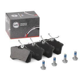 20961 A.B.S. ohne integrierten Verschleißsensor Höhe 1: 52,9mm, Breite 1: 87mm, Dicke/Stärke 1: 16,4mm Bremsbelagsatz, Scheibenbremse 36623/1 günstig kaufen