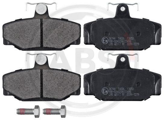 21385 A.B.S. ohne integrierten Verschleißsensor Höhe 1: 53,6mm, Breite 1: 90mm, Dicke/Stärke 1: 13mm Bremsbelagsatz, Scheibenbremse 36744 günstig kaufen