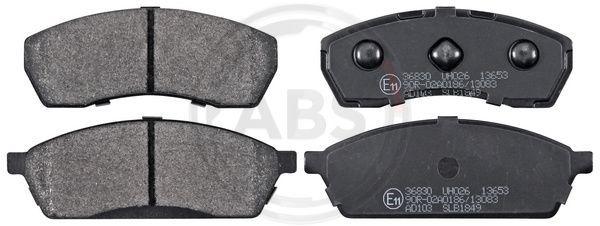 SUBARU VIVIO 1999 Bremsbelagsatz - Original A.B.S. 36830 Höhe 1: 39,1mm, Breite 1: 98,1mm, Dicke/Stärke 1: 14mm