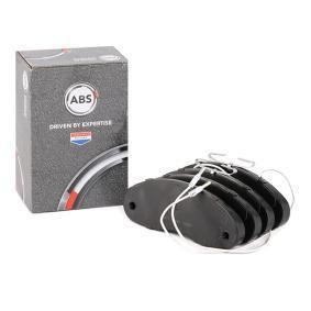 20706 A.B.S. mit integriertem Verschleißsensor Höhe 1: 61,6mm, Breite 1: 166,7mm, Dicke/Stärke 1: 17,0mm Bremsbelagsatz, Scheibenbremse 36877 kaufen