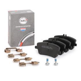 37165 A.B.S. für Verschleißwarnanzeiger vorbereitet Höhe 1: 62mm, Höhe 2: 69,7mm, Breite 1: 131mm, Dicke/Stärke 1: 19,8mm Bremsbelagsatz, Scheibenbremse 37165 günstig kaufen