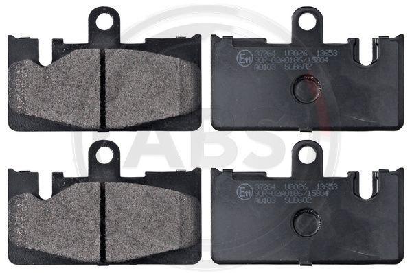 LEXUS LS 2015 Bremsklötze - Original A.B.S. 37264 Höhe 1: 62mm, Breite 1: 96,1mm, Dicke/Stärke 1: 14,8mm