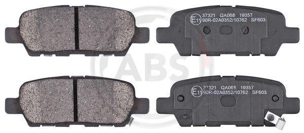 NISSAN MURANO 2014 Bremsbelagsatz - Original A.B.S. 37321 Höhe 1: 38mm, Breite 1: 105,5mm, Dicke/Stärke 1: 14,3mm