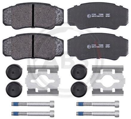 37333 A.B.S. ohne integrierten Verschleißsensor Höhe 1: 50mm, Breite 1: 109,6mm, Dicke/Stärke 1: 19,9mm Bremsbelagsatz, Scheibenbremse 37333 günstig kaufen