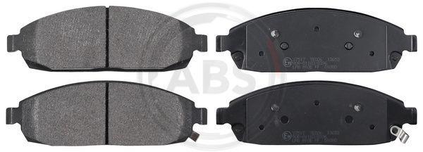37517 A.B.S. mit akustischer Verschleißwarnung Höhe 1: 57mm, Breite 1: 175,8mm, Dicke/Stärke 1: 18,6mm Bremsbelagsatz, Scheibenbremse 37517 günstig kaufen