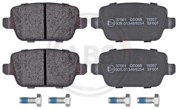 37561 A.B.S. ohne integrierten Verschleißsensor Höhe 1: 43,5mm, Breite 1: 95,3mm, Dicke/Stärke 1: 16mm Bremsbelagsatz, Scheibenbremse 37561 günstig kaufen