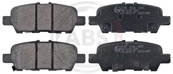 Bremssteine NISSAN Murano III (Z52) hinten + vorne 2018 - A.B.S. 37745 (Höhe 1: 39,5mm, Breite 1: 105,5mm, Dicke/Stärke 1: 14,2mm)
