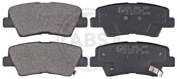 A.B.S.: Original Bremsbelagsatz 37914 (Höhe 1: 41mm, Breite 1: 99,8mm, Dicke/Stärke 1: 14,9mm)