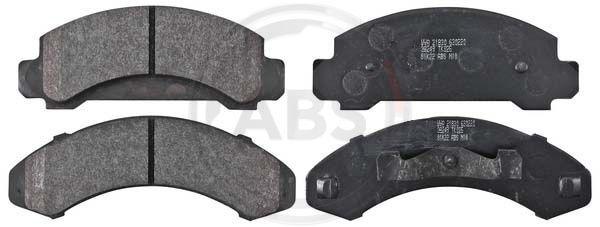FORD USA AEROSTAR 1991 Bremsklötze - Original A.B.S. 38249 Höhe 1: 62,5mm, Höhe 2: 65,5mm, Breite 1: 160mm, Breite 2: 172mm, Dicke/Stärke 1: 15mm, Dicke/Stärke 2: 14mm