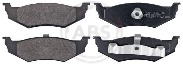 DODGE NEON 2020 Bremsbelagsatz - Original A.B.S. 38641 Höhe 1: 39,9mm, Breite 1: 133,6mm, Dicke/Stärke 1: 18mm