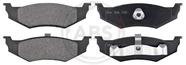 DODGE STRATUS 1994 Bremsbelagsatz - Original A.B.S. 38782 Höhe 1: 40mm, Höhe 2: 40mm, Breite 1: 133,6mm, Breite 2: 133,6mm, Dicke/Stärke 1: 17mm, Dicke/Stärke 2: 17mm