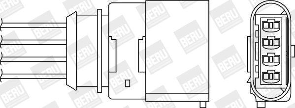 Lambda jutiklis OPH050 BERU — tik naujos dalys
