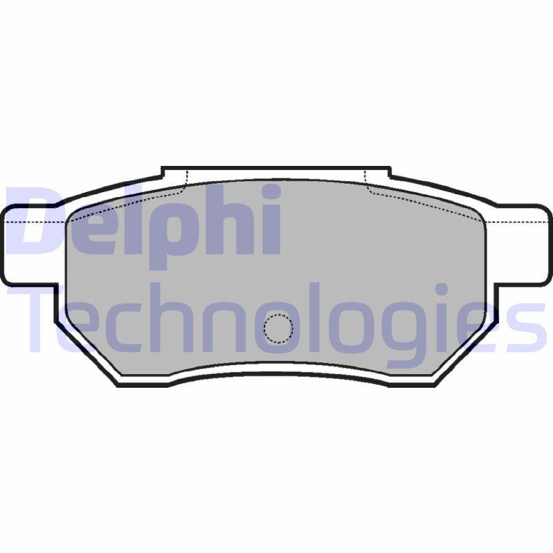 21312 DELPHI Höhe 2: 35mm, Höhe: 35mm, Dicke/Stärke 1: 12mm, Dicke/Stärke 2: 12mm Bremsbelagsatz, Scheibenbremse LP562 günstig kaufen