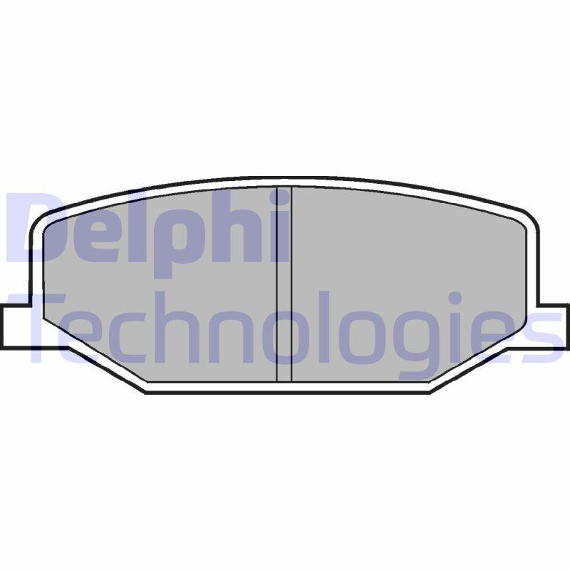 DELPHI Bremsbelagsatz, Scheibenbremse LP527