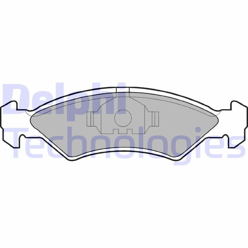 Bremsbelagsatz Scheibenbremse DELPHI LP351