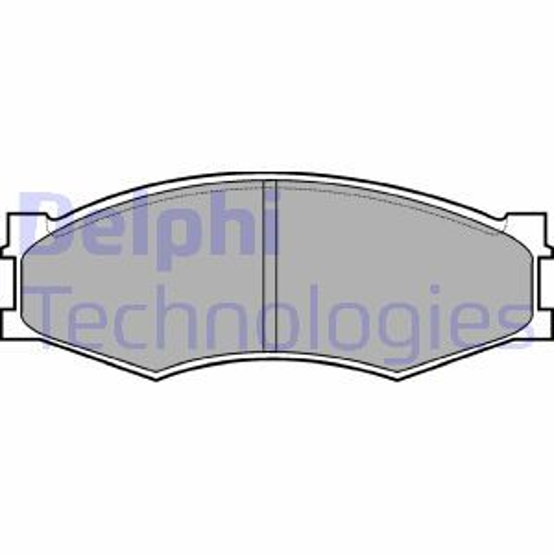 NISSAN TRADE 2001 Bremssteine - Original DELPHI LP358 Höhe 2: 49mm, Höhe: 49mm, Dicke/Stärke 1: 16mm, Dicke/Stärke 2: 16mm