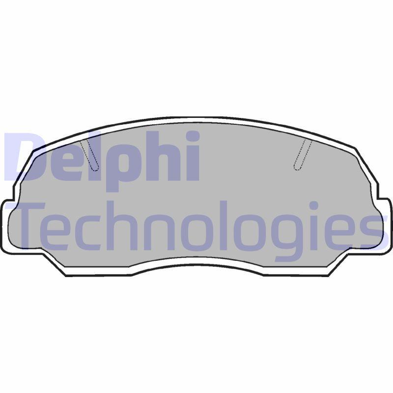 DAIHATSU FEROZA 1994 Bremsbeläge - Original DELPHI LP400 Höhe 2: 52mm, Höhe: 52mm, Dicke/Stärke 1: 13mm, Dicke/Stärke 2: 13mm