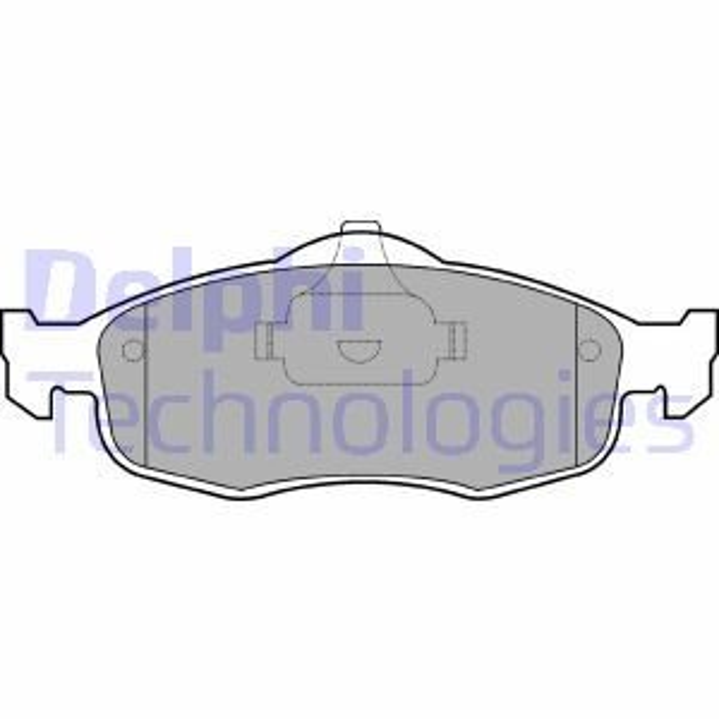 Bremsklötze Ford Mondeo mk2 Kombi hinten + vorne 1999 - DELPHI LP782 (Höhe 1: 58mm, Höhe 2: 58mm, Breite 1: 155mm, Breite 2: 156mm, Dicke/Stärke 1: 18mm, Dicke/Stärke 2: 18mm)