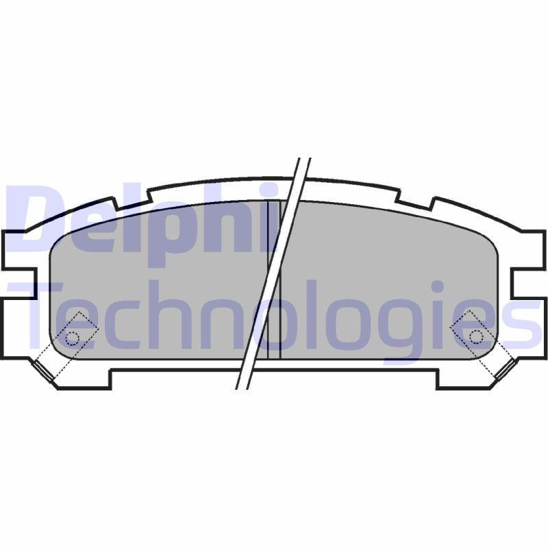 Original SUBARU Bremsbelagsatz Scheibenbremse LP814