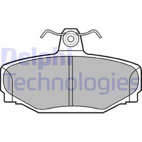 D3917279 DELPHI Höhe: 54mm, Dicke/Stärke 1: 13mm Bremsbelagsatz, Scheibenbremse LP637 günstig kaufen