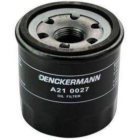 A210027 DENCKERMANN Diâmetro interior 2: 62mm, Diâmetro interior 2: 54mm, Altura: 67mm Filtro de óleo A210027 comprar económica