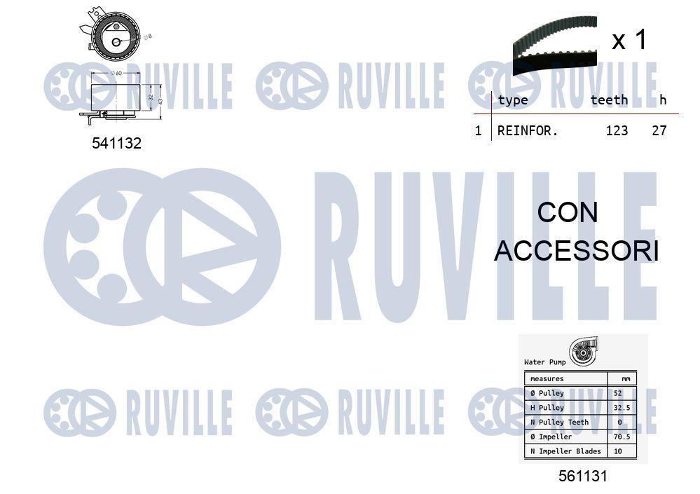 5690170 RUVILLE Zähnezahl 1: 163 Zahnriemensatz 5690170 günstig kaufen