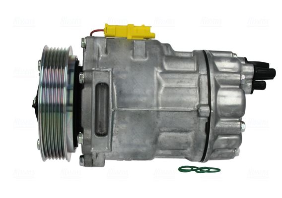 NISSENS: Original Kompressor 89136 (Riemenscheiben-Ø: 119mm, Anzahl der Rillen: 6)